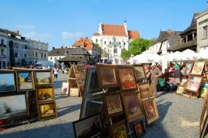 Kazimierz-obrazy-na-rynku