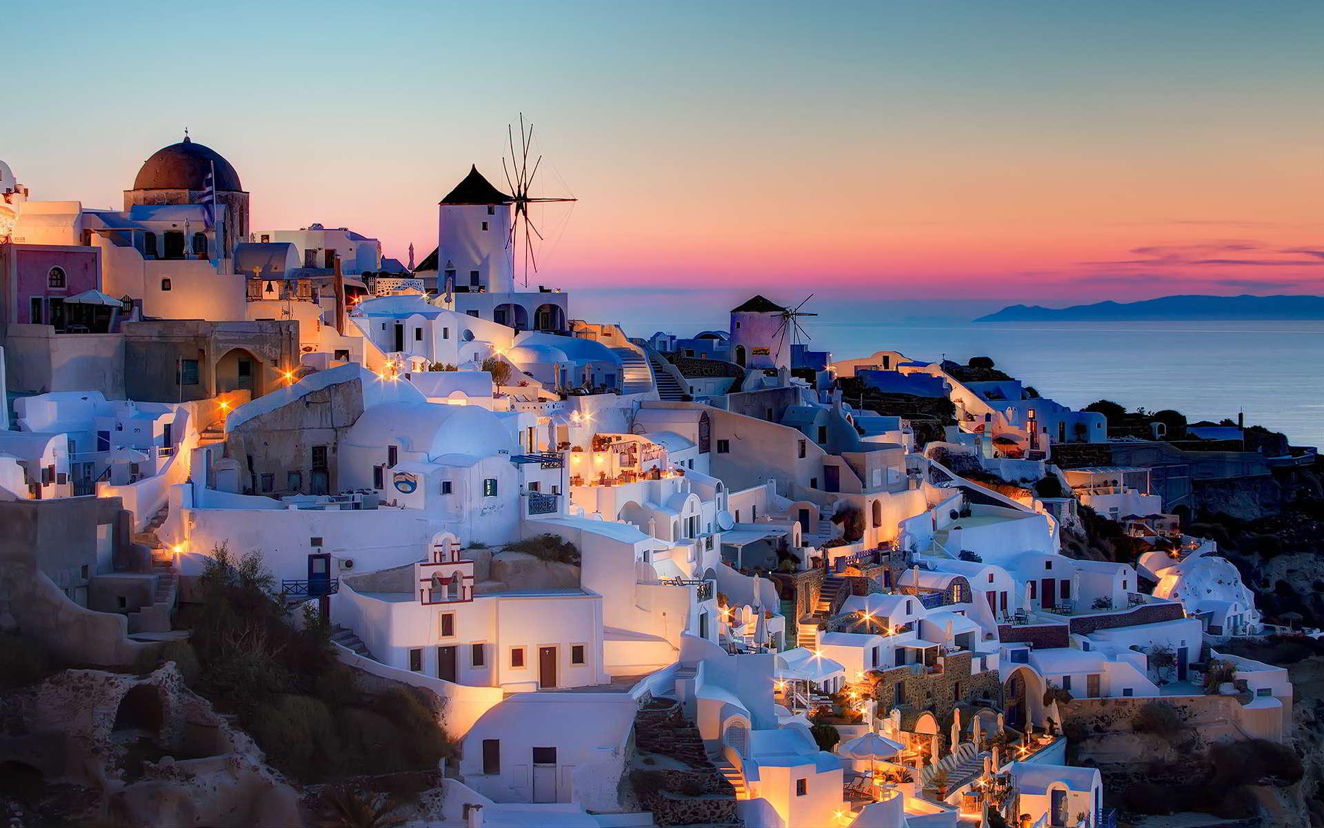 Santorini elegante con stile